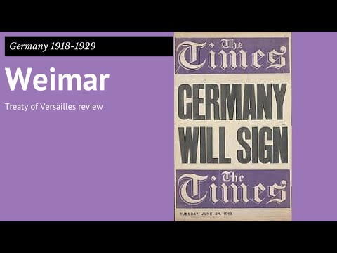 GCSE Germany 1: Treaty of Versailles review