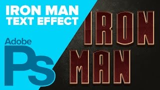 How to Create IRON MAN Text in Photoshop