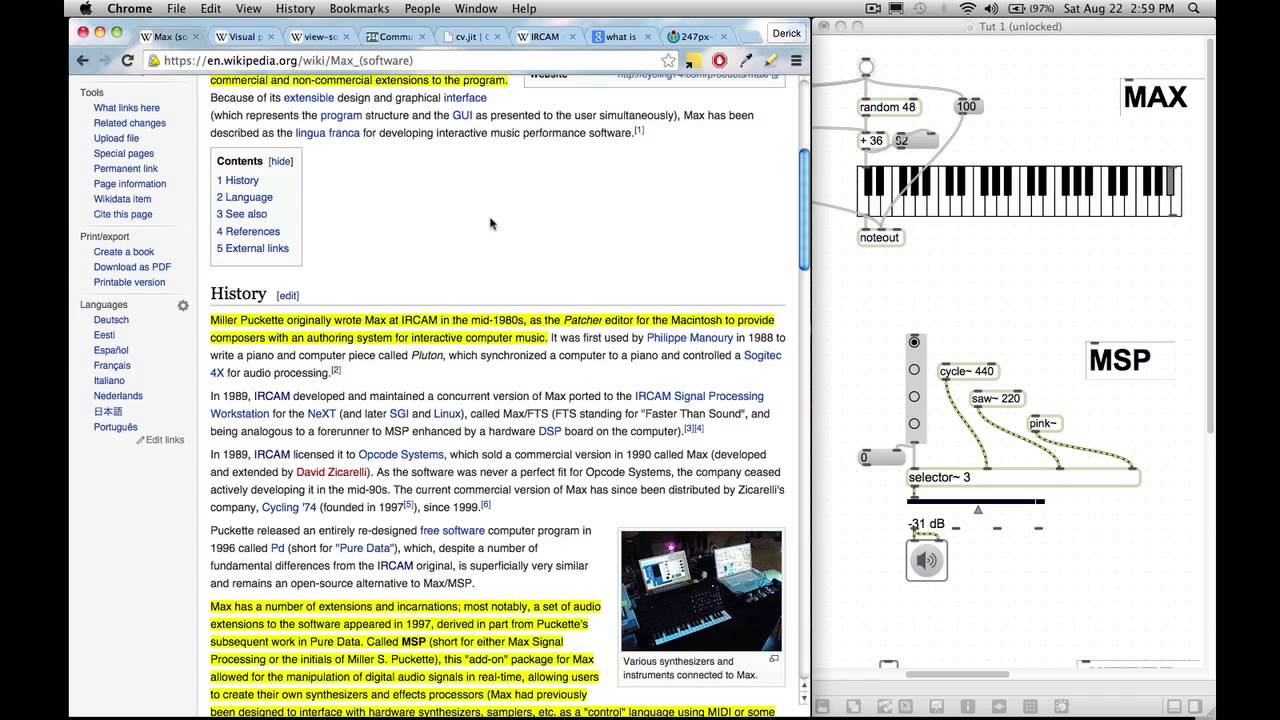 Beginner maxmsp tutorial series episode 1 brief history of max beginner maxmsp tutorial series episode 1 brief history of max max vs msp vs jitter baditri Gallery