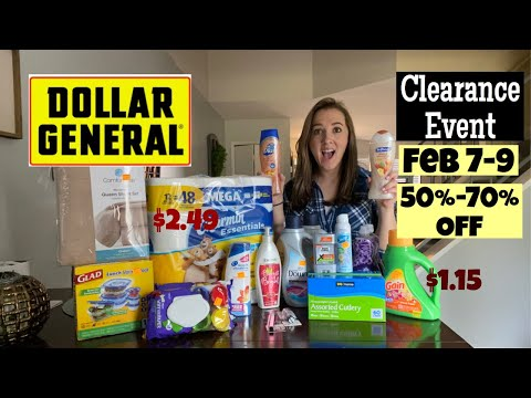 Dollar General Clearance Event! Additional 50-70% Off! Feb 7-9