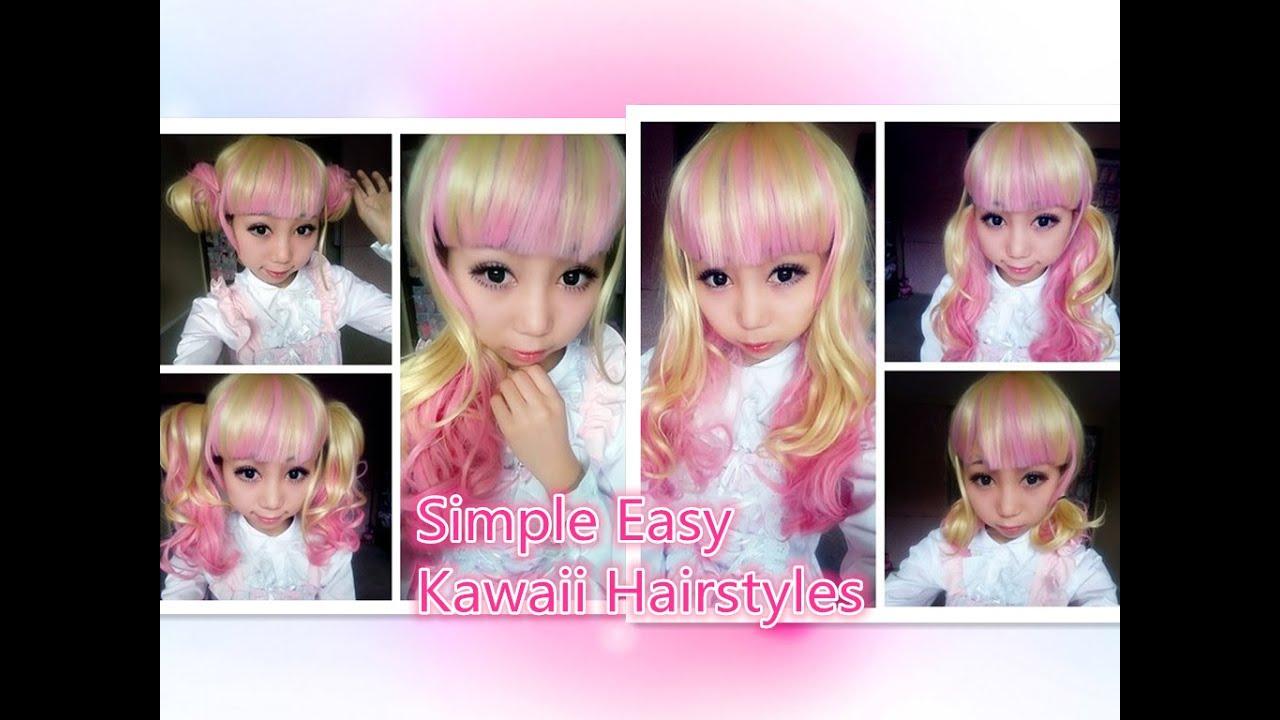5 simple easy kawaii hairstyles