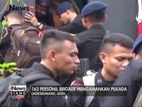 162 Brimob Kelapa Dua, Depok Dipersiapkan Untuk Perbantuan Pilkada Aceh - INews Siang 22/01