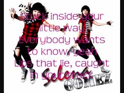 Selena Gomez - Kiss And Tell Lyrics On Screen!