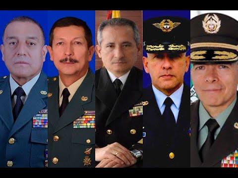 Así quedó la nueva cúpula de las fuerzas armadas en Colombia | Noticias Caracol