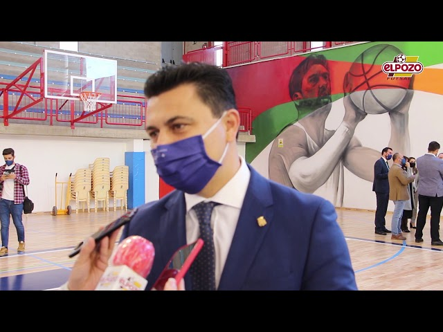 Entrevista Alcalde de San Javier  Reinauguración pabellón Príncipe Felipe