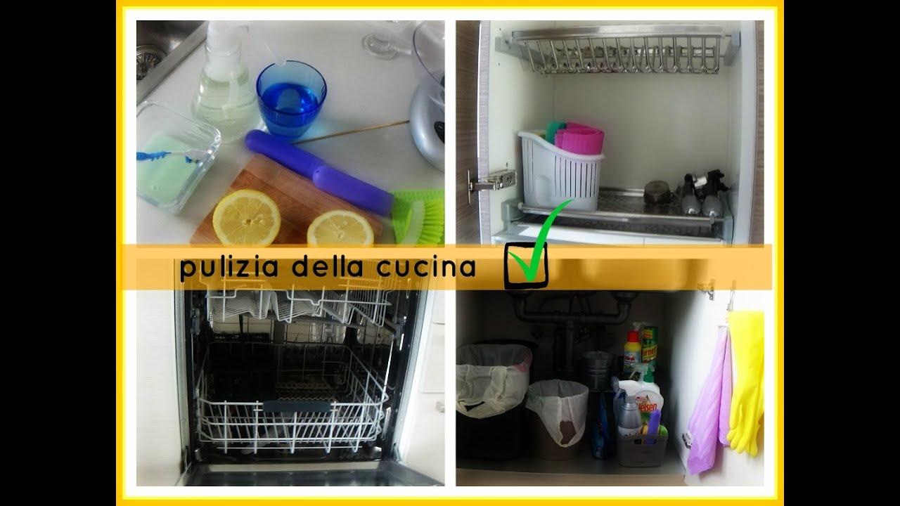 pulizie in cucina: lavastoviglie scolapiatti sottolavello - youtube - Sottolavelli Cucina