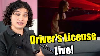Vocal Coach Reacts to Olivia Rodrigo - Driver's License (Live)