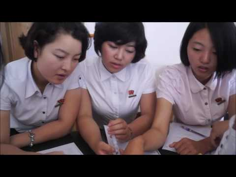 English lesson time in Pyongyang, North Korea
