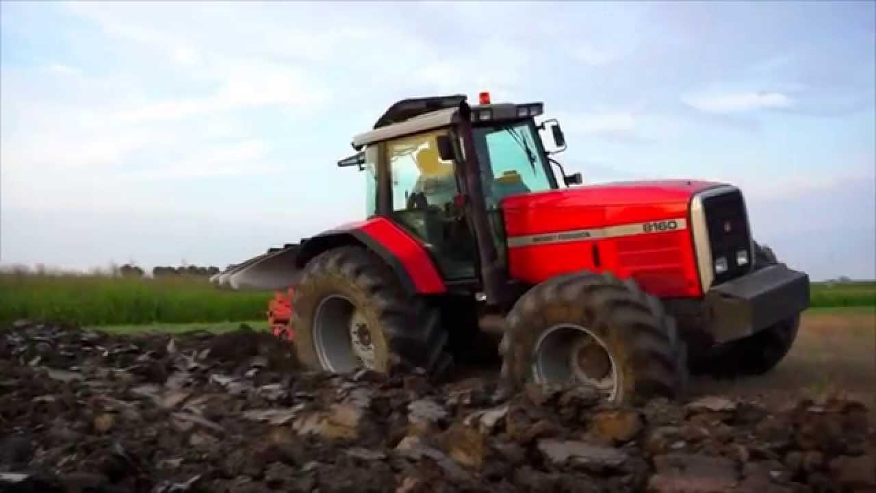 Massey Ferguson 8160 ploughing 2014