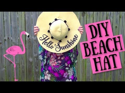 How To Personalize A Straw Sun Hat With Cricut | Easy DIY Honeymoon Beach Hat