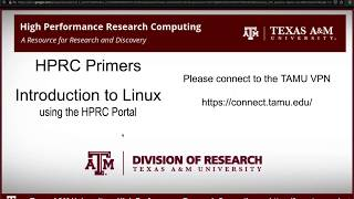 HPRC Primers: Intro To Linux Using The OOD Portal