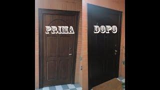 Restauro portoncino blindato fai da te - DIY wood door restoration