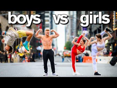 BOYS vs GIRLS! Super Crazy PHOTO DARES! Surprise Dance Moms Guest!