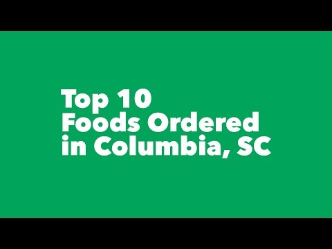 Top 10 Foods Ordered in Columbia