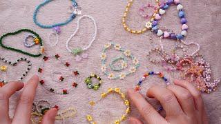 비즈 소리 ASMR|내가 만든 비즈 반지&팔찌 …