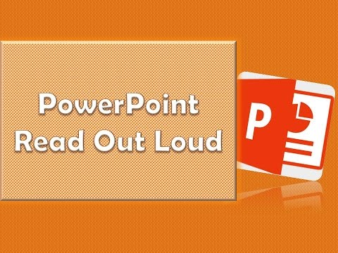 Microsoft PowerPoint Read Out Loud Tutorial