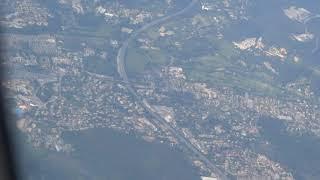 Лазурный берег Ницца из окна самолета