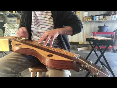 Sound Check a newly completed Mountain Dulcimer (#78)