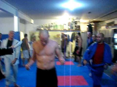 """Nick """"The Greek"""" Philippakos being promoted to Blue Belt"""