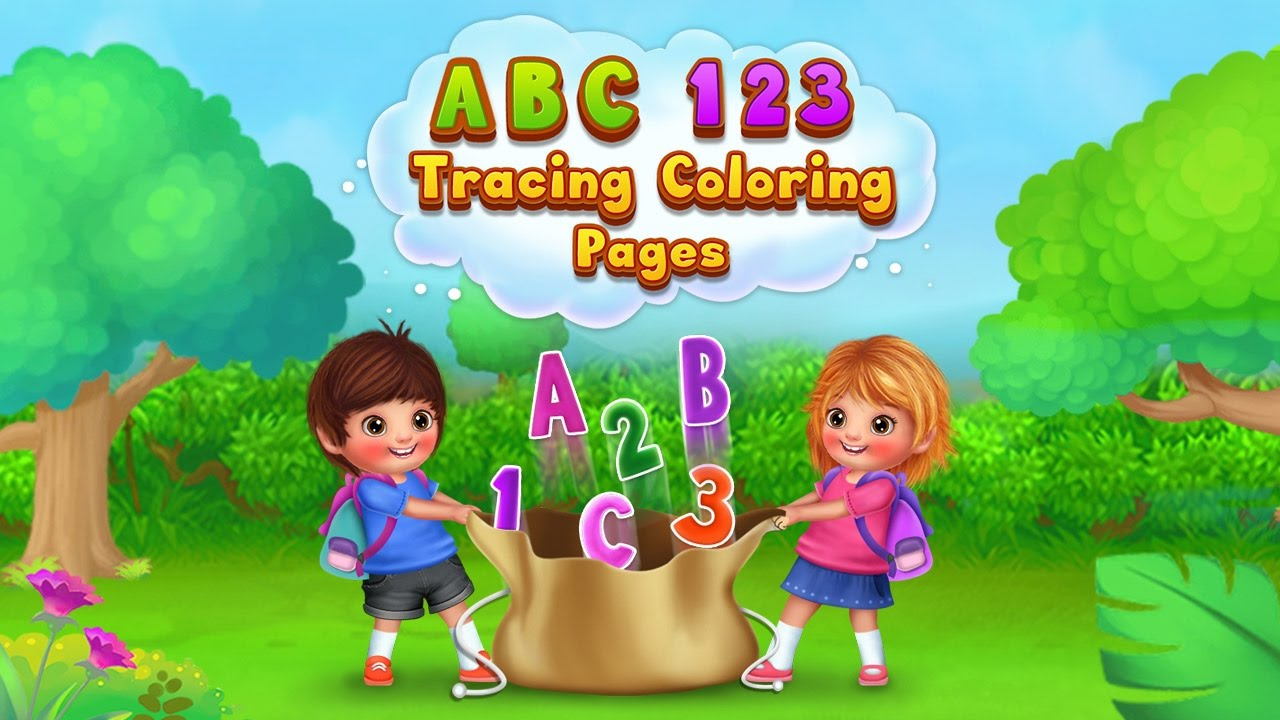 abc 123 tracing coloring pages abc games toddlers u0026 kids games