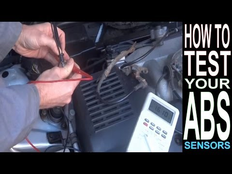 ABS Light ON? HOW TO TEST ABS SENSOR with Multimeter. Car Repairs: Brakes; Anti-Lock Braking System.