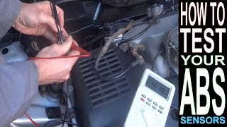 abs light on how to test abs sensor with multimeter car repairs brakes anti lock braking system