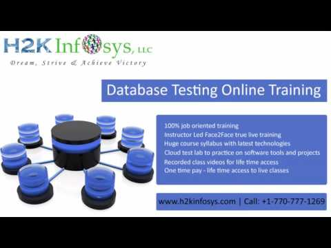 Database Testing Online Training & Course Details - H2kinfosys
