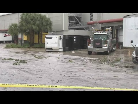 Pompano Beach businesses damaged by tornado in Industrial Park