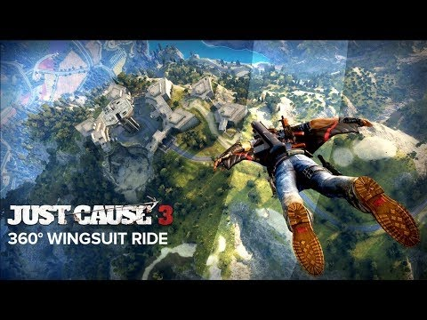 Just Cause 3  360° Wingsuit Ride HD