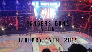 Rangers Game Vlog 1/17/2019 (READ DESC.)