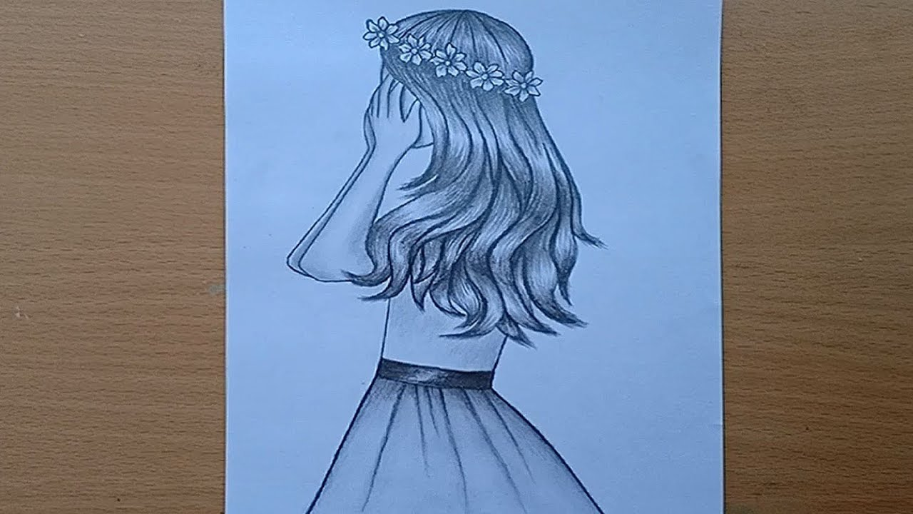How to draw a girl with pencil sketch.Pencil Sketch ...