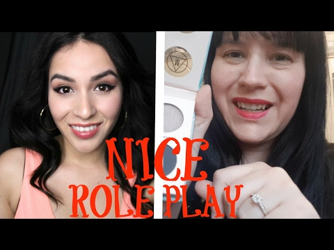 Asmr - Let us 2 sweet girls do your Make Up! Collab with Stephanie7Whispers  ASMR Role Play