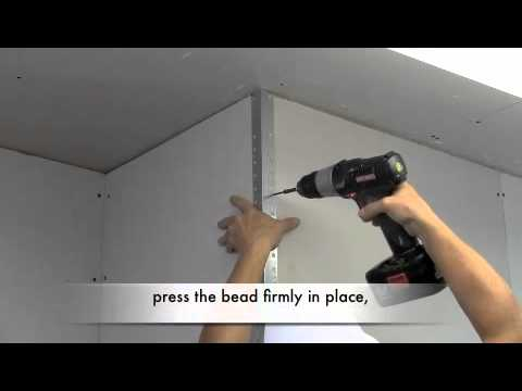 How To Install Metal Drywall Corner Bead Youtube