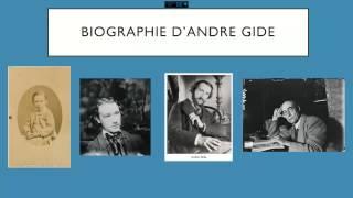 BIOGRAPHIE ANDRE GIDE