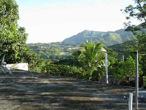 Morning in the mountains of Jayuya, Puerto Rico