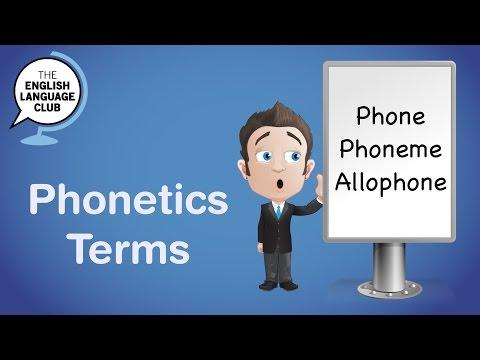 Phonetics Terms: phone, phoneme, allophone