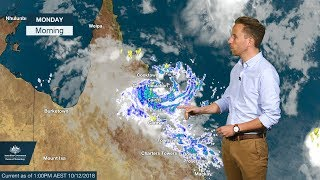 weather update  ex tropical cyclone owen in queensland and rain forecast for southeastern australia