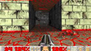 Doom II (100%) Walkthrough (Map18: The Courtyard)