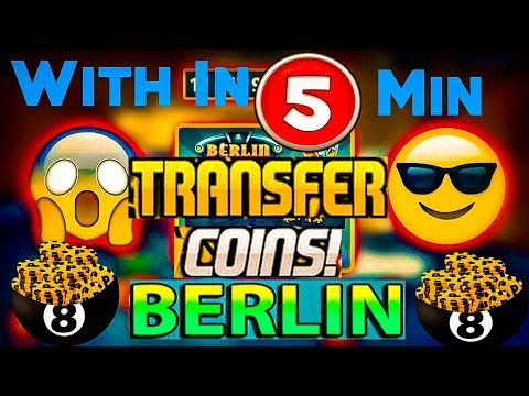 8 Ball Pool - NEW Coin TRANSFER 1B+ In 5 minutes Berlin ( LEGAL METHOD) 2018