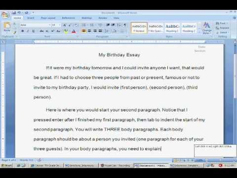 How to format and start the birthday essay project youtube how to format and start the birthday essay project stopboris Image collections