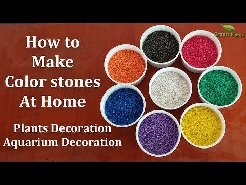 How To Make Waterproof Color Stones For Plants & Garden Decoration//GREEN PLANTS