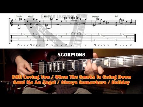Scorpions GUITAR LESSON with TAB - Ballads - Still Loving you - Holiday  - Send Me An Angel ...