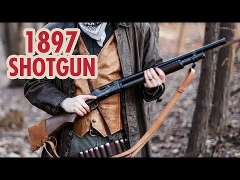 Real Winchester M1897 pump action shotgun compared to Red Dead Redemption 2 thumbnail