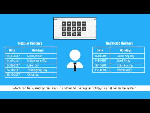 Restricted Holidays Configuration
