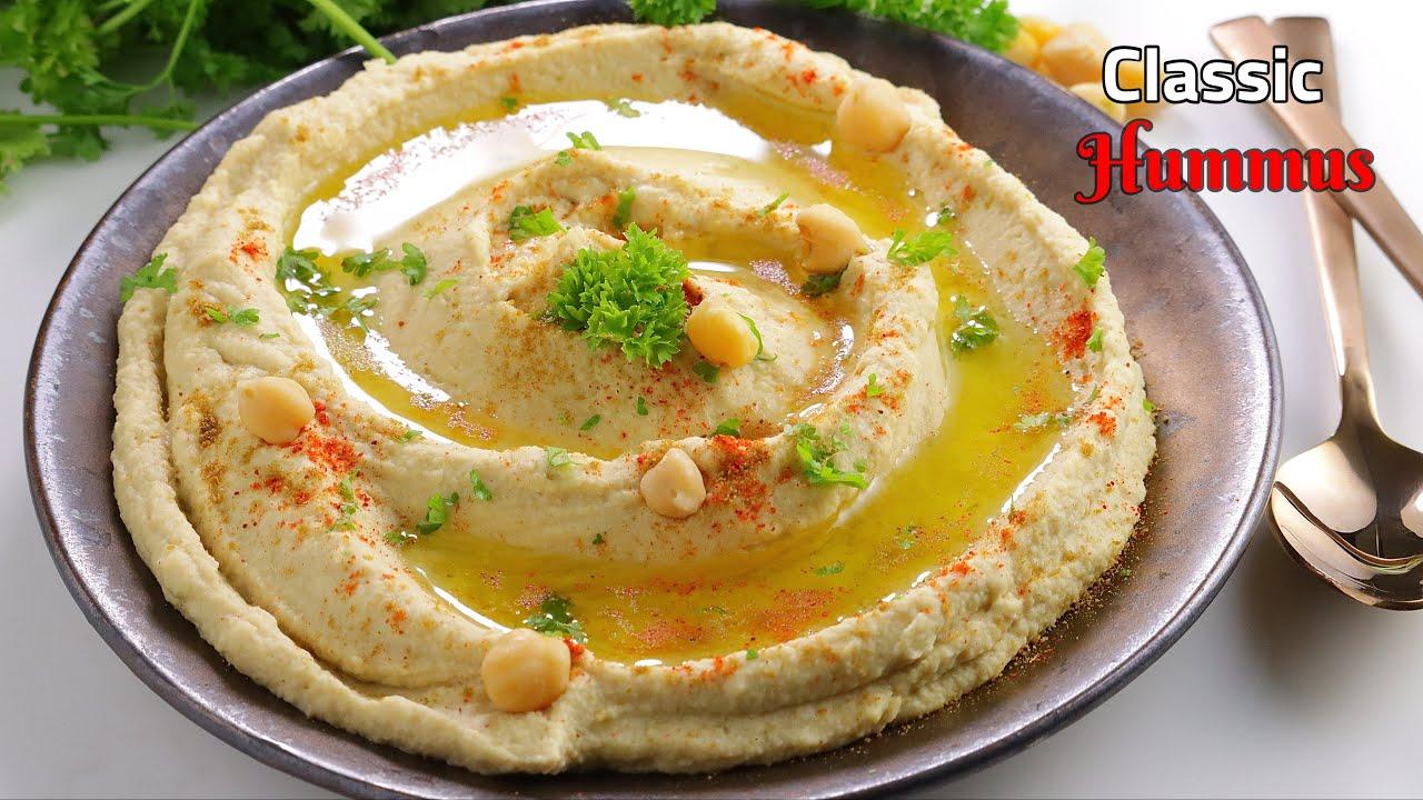 క్లాసిక్ హమ్మస్ | how to make Hummus recipe and tahini sauce recipe In Telugu | Vismai food