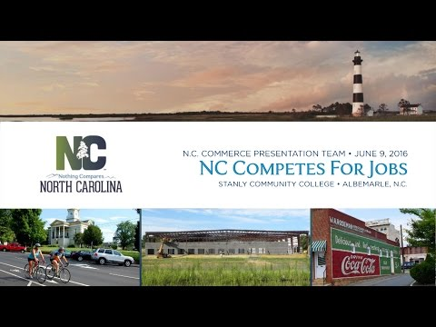 North Carolina Competes for Jobs Tour Presentation