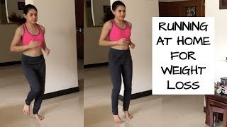 RUNNING at home for weight loss for beginners | Lose 10 kgs fast #BODYLOVE e08