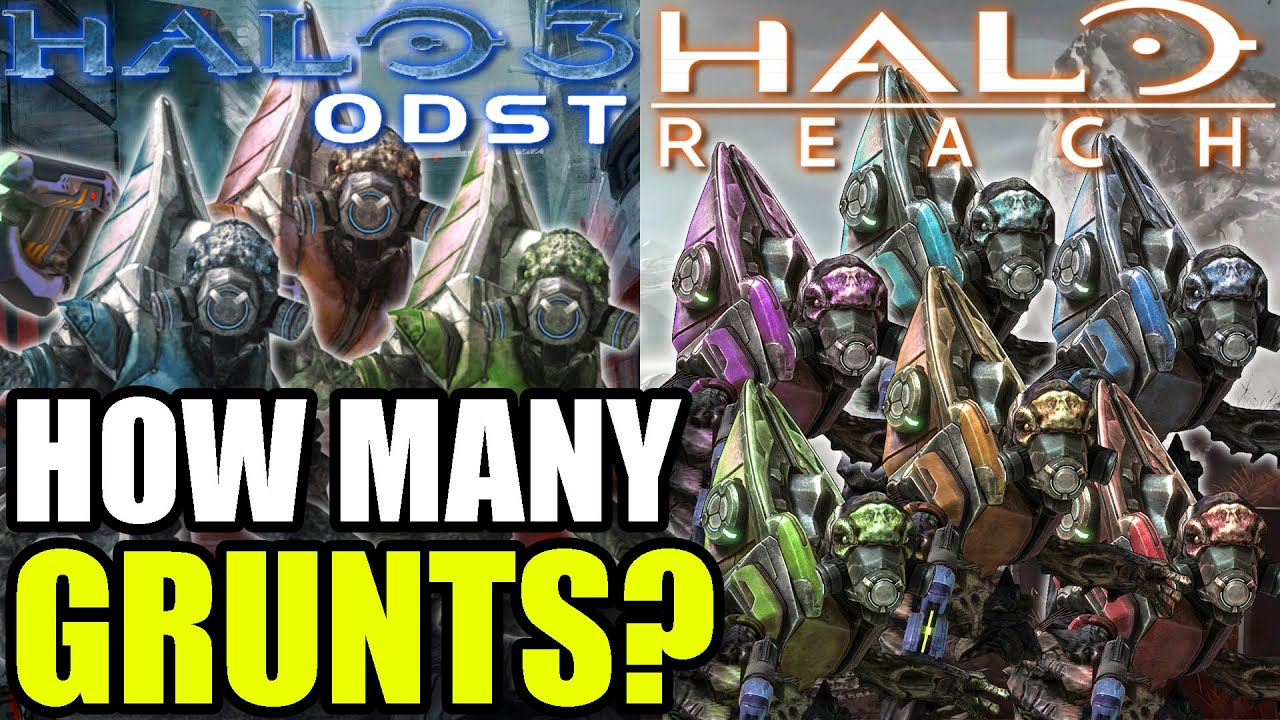 Counting EVERY Single Grunt In Halo 3 ODST and Reach