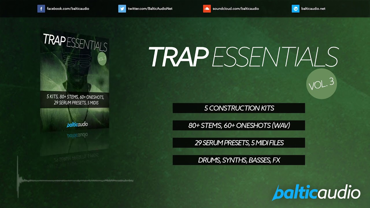 Trap Essentials Vol 3 (5 Kits, 29 Serum Presets, 80+ Stems, 60+ Oneshots)