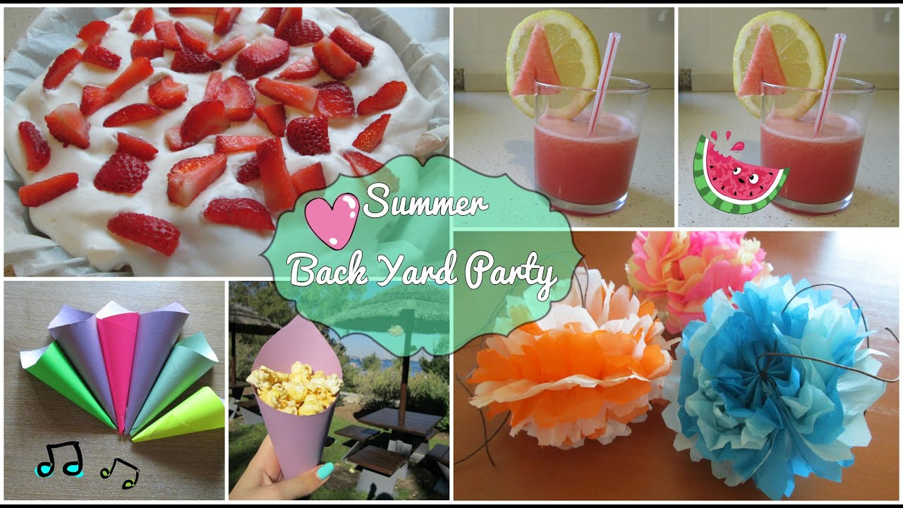 backyard party summer edition diy treats decorations more youtube - Outdoor Decorations For Summer